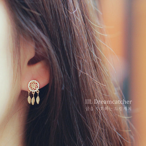 DREAMCATCHER 3 Earring (silver pin) - Wingbling Global