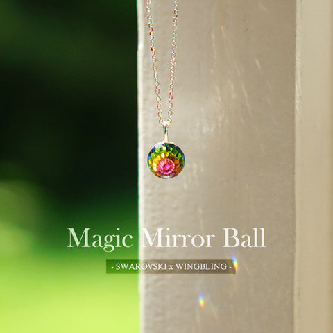 MAGIC MIRROR BALL Necklace (swarovski) - Wingbling Global