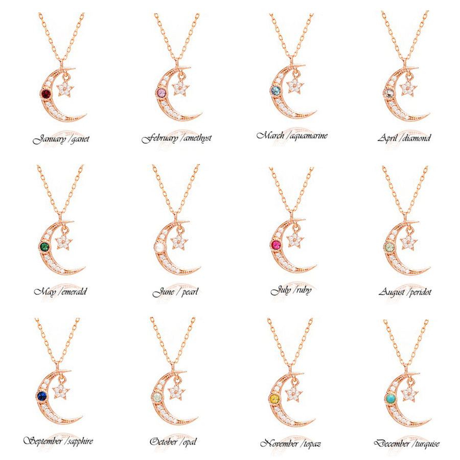 SERA Birthstone Necklace (Gold)