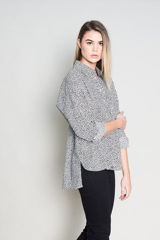 THREE TONE PONCHO