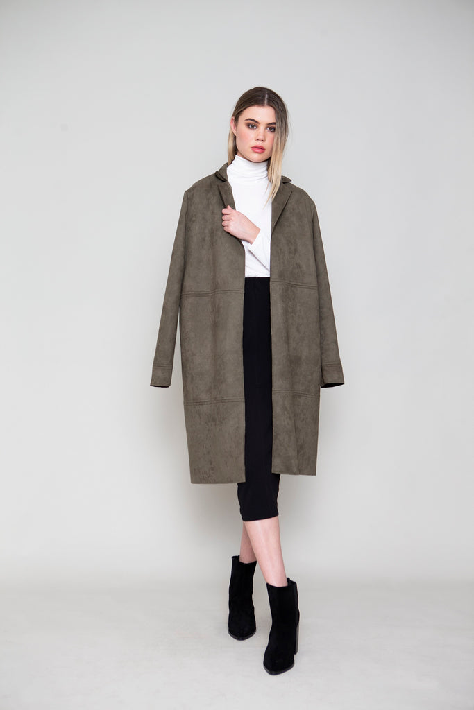 LONG SUEDE COAT
