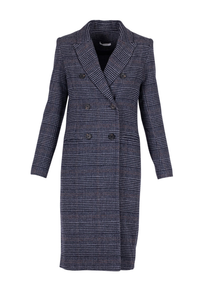 DOUBLE BREASTED BOUCLE COAT