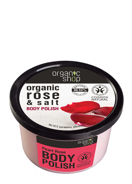 Organic Shop Pearl Rose Body Polish 250ml