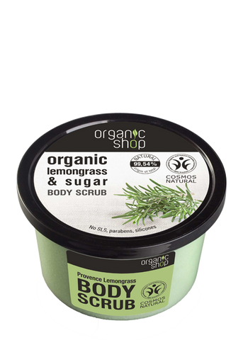 Organic Shop Provencal Lemongrass Body Scrub 250ml