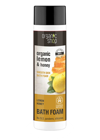 Organic Shop Lemon Honey Softening Bath Foam 500ml