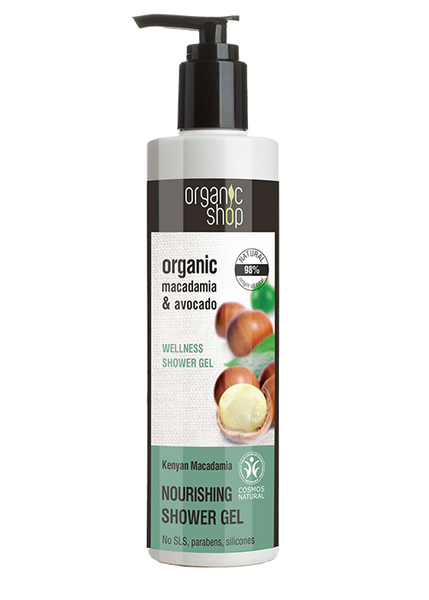 Organic Shop Kenyan Macadamia Nourishing Shower Gel 280ml