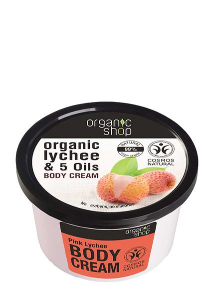 Organic Shop Pink Lychee Body Cream 250ml