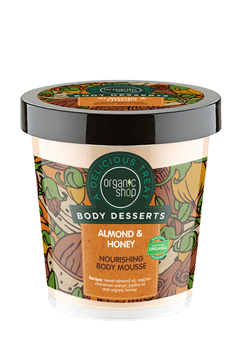 Organic Shop Body Desserts Almond and Honey Nourishing Body Mousse 450ml