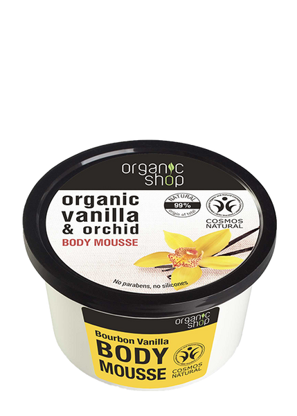 Organic Shop Bourbon Vanilla Body Mousse 250ml