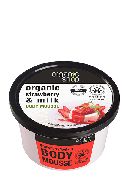 Organic Shop Strawberry Yoghurt Body Mousse 250ml