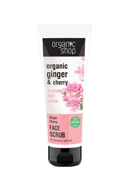 Organic Shop Ginger Cherry Face Scrub 75ml