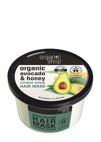 Organic Shop Honey and Avocado Repair Hair Mask 250ml
