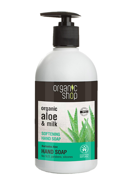 Organic Shop Aloe and Milk Softening Hand Soap 500ml