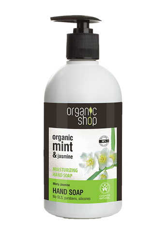 Organic Shop Mint and Jasmine Moisturising Hand Soap 500ml