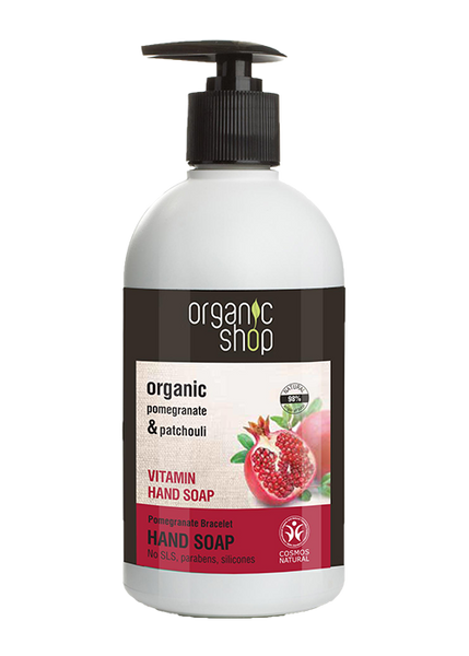 Organic Shop Pomegranate and Patchouli Refreshing Hand Soap 500ml