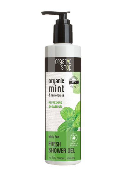Organic Shop Minty Rain Refreshing Shower Gel 280ml