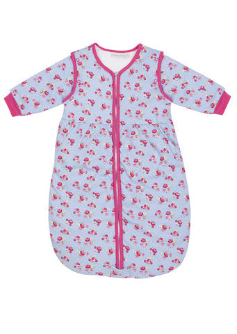 JoJo Maman Bebe</br>Baby Cosy Sleeping Bag-Rose print