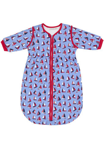 JoJo Maman Bebe</br>Baby Cosy Sleeping Bag-Sailboat Print