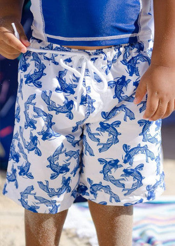 Sun Emporium</br>Board Shorts -Fish Print