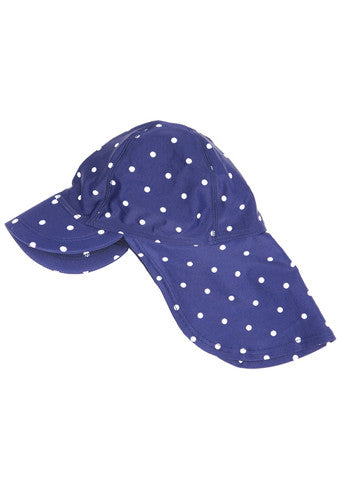 JoJo Maman Bebe</br>Dot Quick Drying Flap Sun Protection Hat
