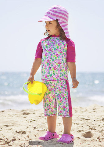 JoJo Maman Bebe</br>Hibiscus Quick Drying 2 Piece Sunsuit