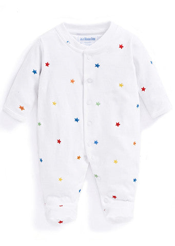 JoJo Maman Bebe</br>Baby Sleepsuit | Star Embroidered