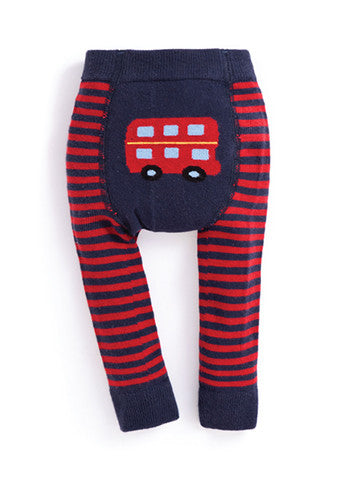JoJo Maman Bebe </br>Leggings | Bus Navy & Red Striped