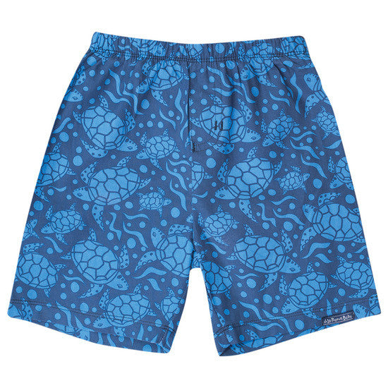 JoJo Maman Bebe</br>Blue Turtle swim shorts