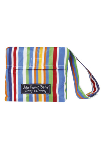 JoJo Maman Bebe</br>Wipe-Clean Pocket Highchair Multi Stripe