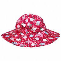 JoJo Maman Bebe</br>Red Primrose print floppy style Sun Protection Hat