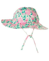 JoJo Maman Bebe</br>Tropical print floppy style Sun Protection Hat