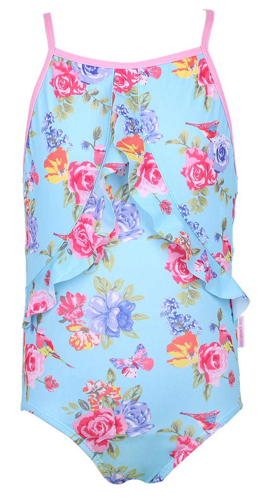 Sun Emporium</br>Girls One Piece Suit with Floral Print