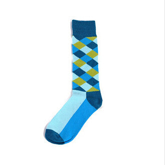 Colored Checkered Socks
