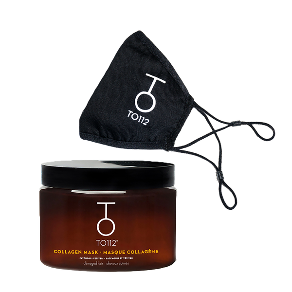 A double-layered, 100% cotton Face Mask & the Collagen Hair Mask