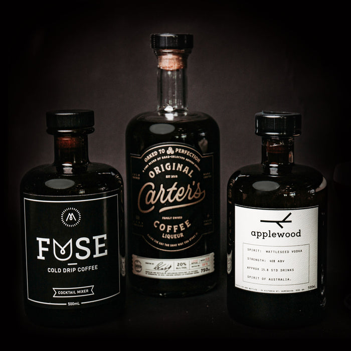 Espresso_Martini_Packs_Fuse_Cold_Drip_Coffee_Carter's_original_coffee_liqueur_applewood_wattleseed_vodka