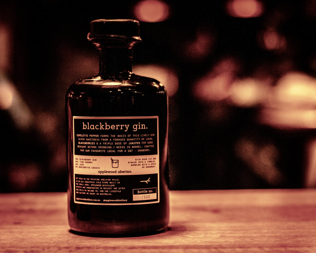 blackberry gin - Applewood Distillery