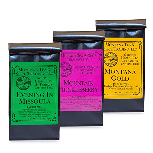 Montana Tea & Spice Combo Pack (Evening in Missoula, Montana Gold, Mt. Huckleberry)