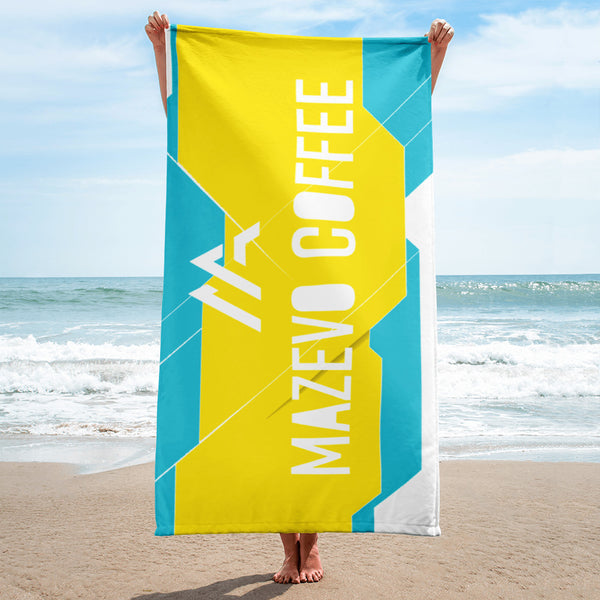 Mazevo Coffee Beach Towel