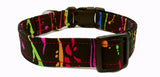 The Paintbrush - Colorful Dog Collar (Matching Leash Available)