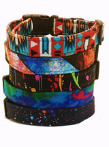 Large Stripe Rainbow Dog Collar (Matching Leash Available)