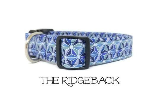 Blue Starburst Dog Collar - The Ridgeback  (Matching Leash Available)