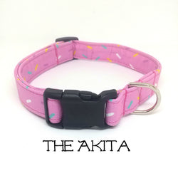 The Akita  - Donut Sprinkles Dog Collar (Matching Leash Available)
