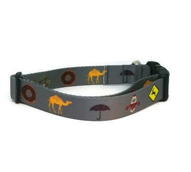 Gray Phish Medley Dog Collar (Matching Leash Available)
