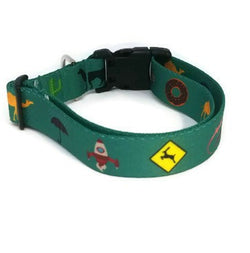 Teal Phish Medley Dog Collar (Matching Leash Available)