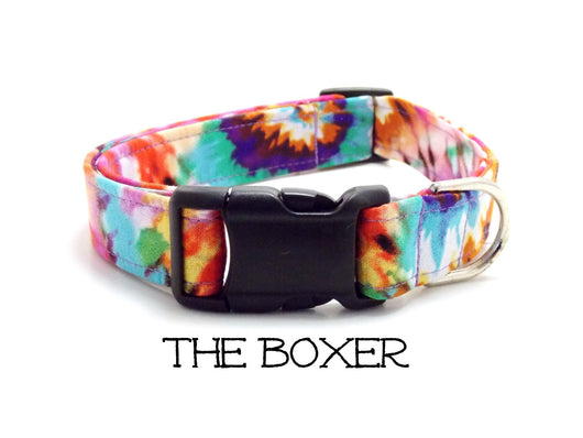 The Boxer - Tie Dyed Dog Collar (Matching Leash Available)