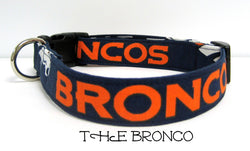 The Bronco - Denver Broncos Dog Collar (Matching Leash Available)