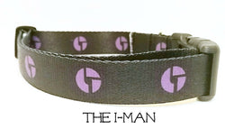 The I-Man - Disco Biscuits Dog Collar - Printed Webbing (Matching Leash Available)