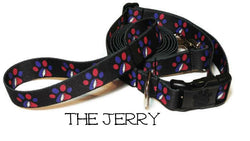 The Jerry - Grateful Dead Dog Collar - Printed Webbing (Matching Leash Available)