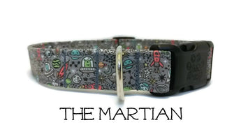 Martian Dog Collar - The Martin (Matching Leash Available)