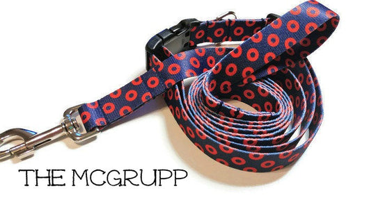 The McGrupp - Fishman Donut Dog Collar - Phish Dog Collar -Printed Webbing (Matching Leash Available)